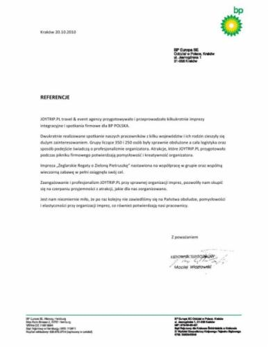 Realizacja dla BP POLSKA